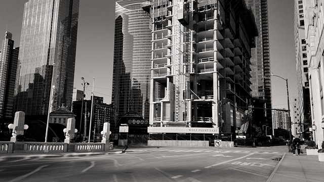 In-Progress Construction of Wolf Point East, October, 2018