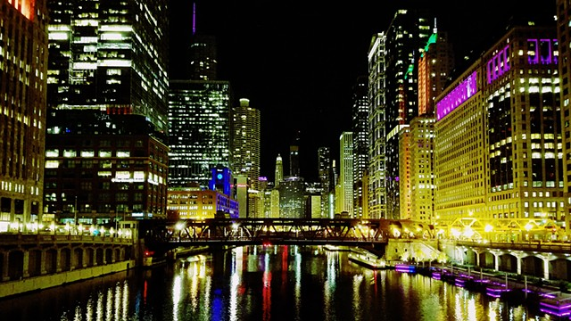 Halloween Night on the Chicago River
