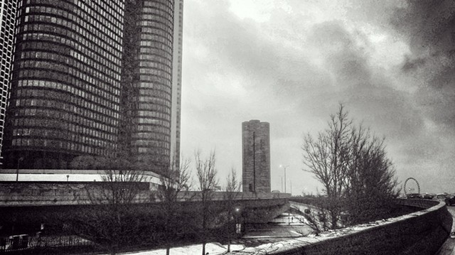 Winter Clouds on Lake Shore Drive