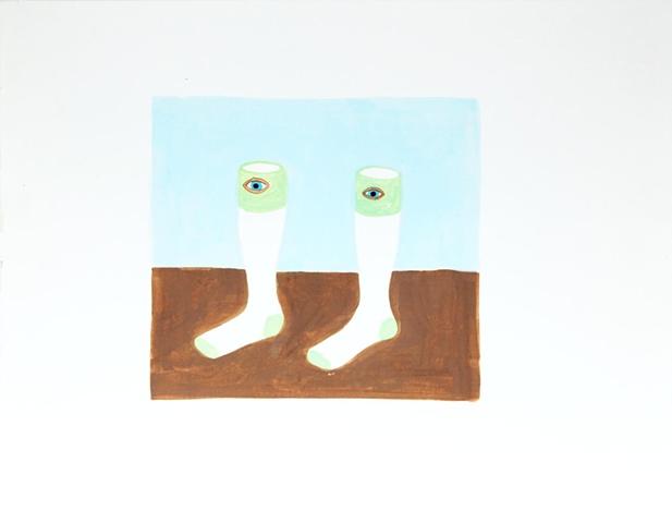 Socks with Mystical Symbol
