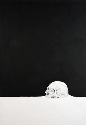 the end death skull oil acrylic painting book by artist michael tarbi