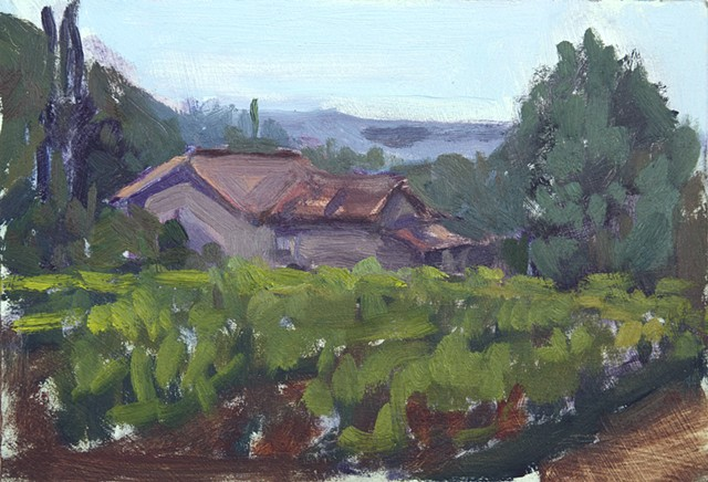 Nestled In.3pm , Provence landscape