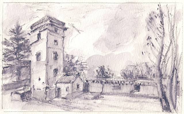 """Corot's Tower"" from Terrano, Civita Castellana"