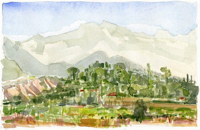Ojai Preserve,View East