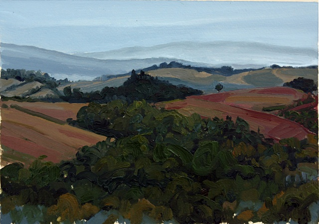 Tuscan Landscape,October(Rainy Day)