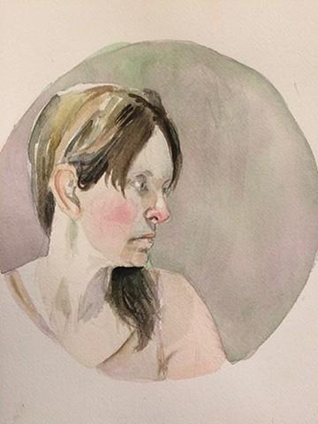 Self Portrait (Tondo)