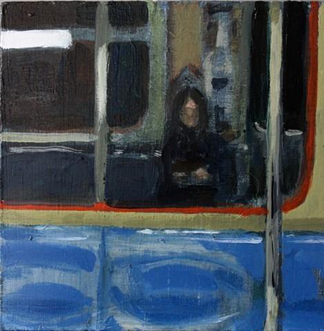 Self Portrait on PATH Train