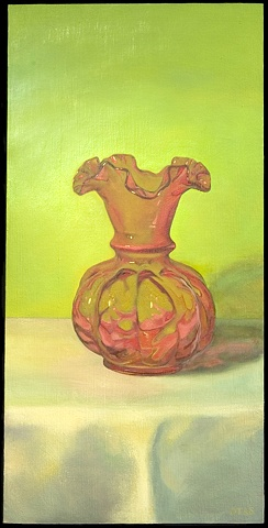 Vase in Red and Green