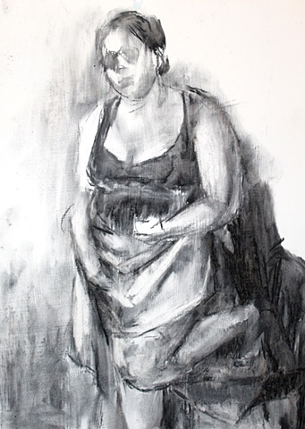 Self Portrait with Skirt I
