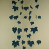 Blue leaves, detail