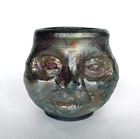 Raku Moon Lady Bowl
