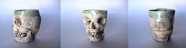 Skull Mug Light Green Interior