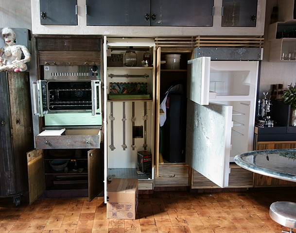 Stove and Fridge Cabinets