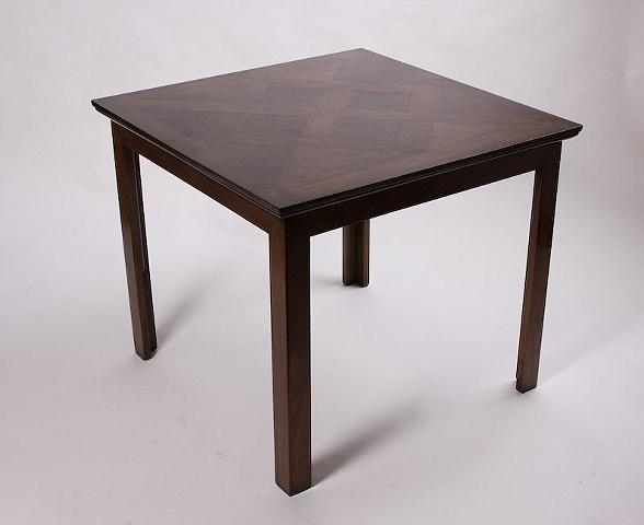 Walnut parquet card table