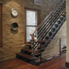 Walnut stairs and handrail
