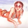 Kristen on Rockaway Beach