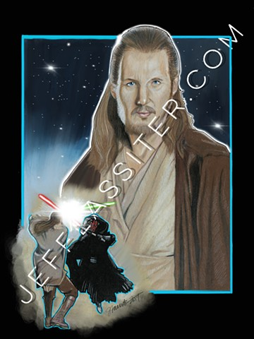 Qui-Gon (digitally enhanced)