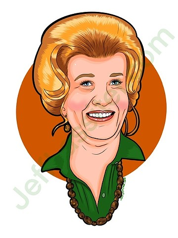 Design for a T-shirt featuring Charlotte Rae from The Facts of Life