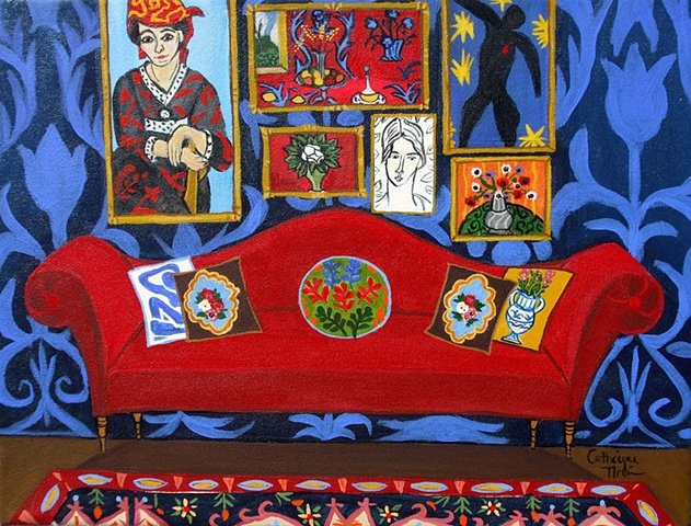 Henri's  Red Couch
