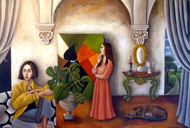 art, painting, Picasso, villa, old dog, art collector, catherine nolin, contemporary art, matisse