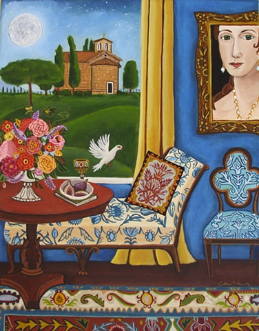 tuscany painting, church, interior painting, catherine nolin