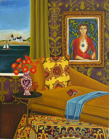 summer reading painting catherine nolin