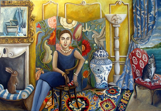 art, painting, original art, matisse, interiors, french, portrait, cats, rabbits, rooms, decor, picasso