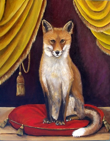 fox painting, art, original painting, gift, wall art, interior design, decor, catherine nolin, old masters