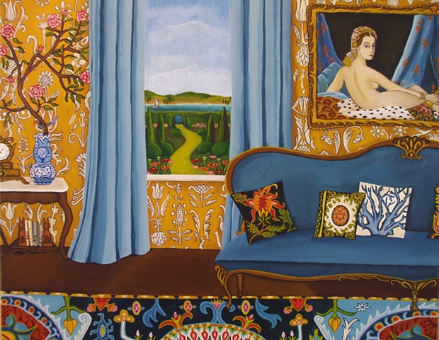 painting, catherine nolin, art, painting of room,