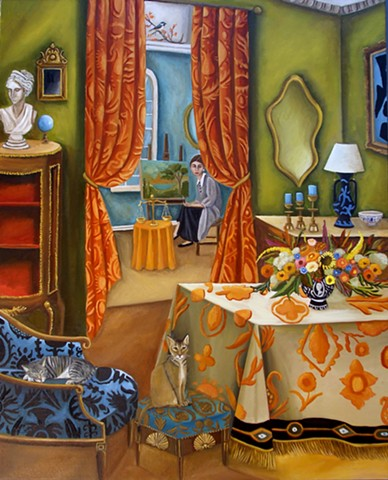 art, painting, contemporary, museum, greek art, Egyptian art, statues, neoclassical art, animals, lemur, raccoon,cougar, catherine nolin, Dequattro, fine art, decor, room screen