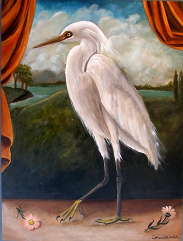art, painting, owls, Audubon, bird art, barn owl, visual art, paintings for sale, tuscany, catherine nolin