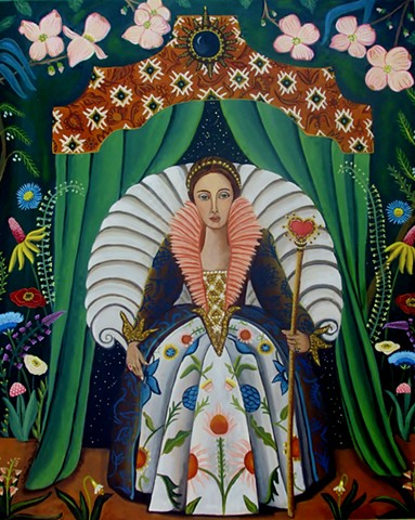 paintings of interior scenes, art , painting, catherine nolin, interior room painting, pink interior, paris, bouquet of flowers, chandelier