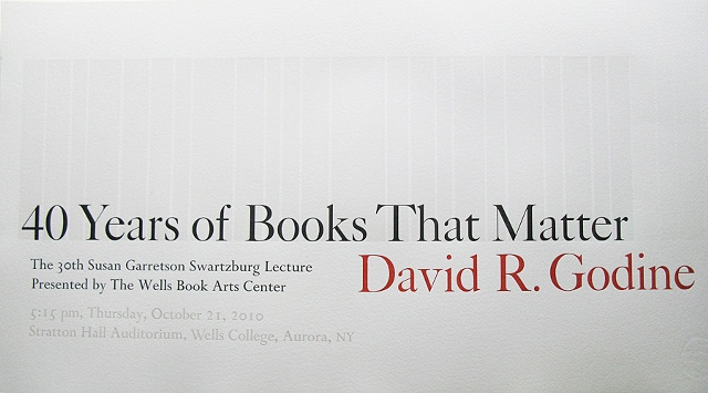 40 Years of Books That Matter (David Godine Lecture)
