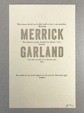 I Remember Merrick Garland
