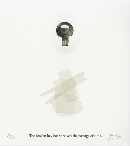 the broken key letterpress print