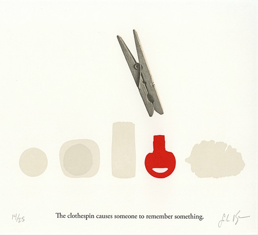 the clothespin letterpress print