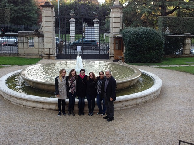 Art and Philosophy Seminar Students at the Entrance to the American Academy in Rome. March 2016