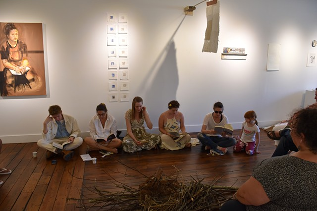 Reading Performance at Oxbow Gallery