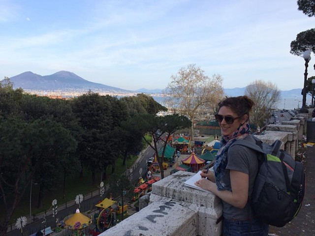 Scoon Drawing Vesuvio in Napoli Italy 2016