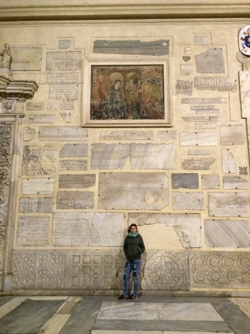 Scoon at the Chiesa Santa Maria in Trastevere 2016