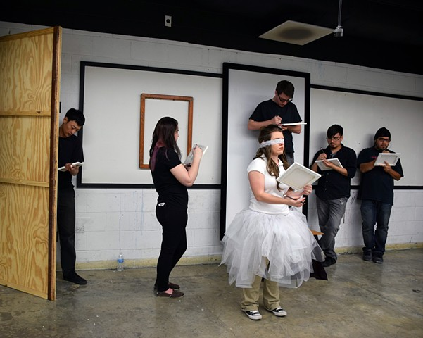 "Still from Performance 12 Students Performing ""Las Meninas"""