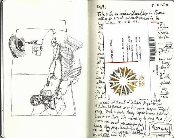 Ann Miller Sketchbook Image from Art and Philosophy Seminar 2016
