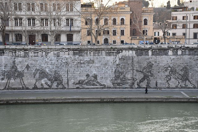 William kentridge's Drawing along the Tevere 2017