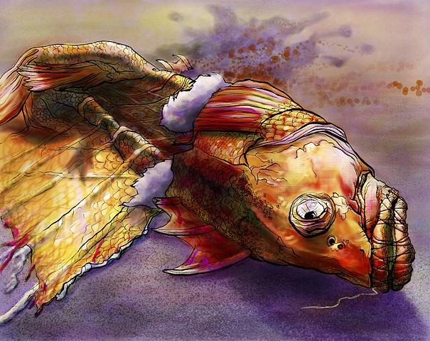 """I'm Sewing My Fish"""