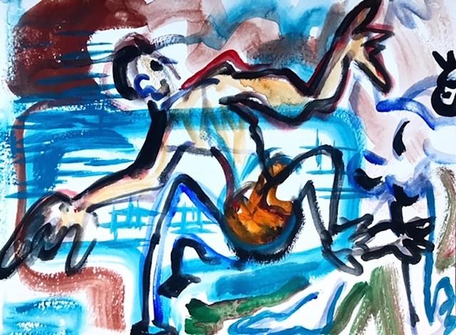 Boy in Pool, Belvedere
