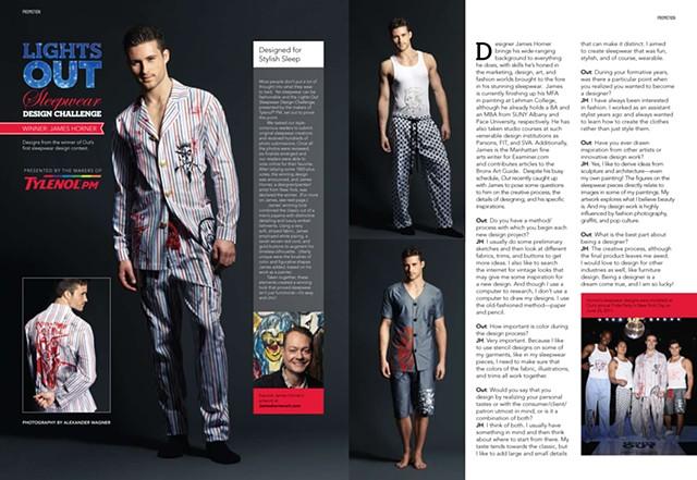 Out Magazine/Tylenol Sleepwear Design Competition Winner