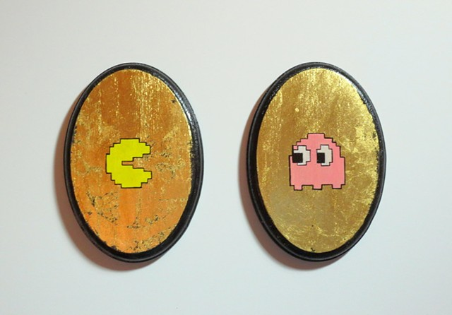 Pacman and Pinky (After Toru Iwatani)