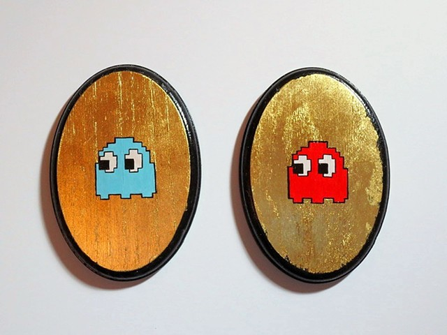 Pacman Ghosts : Blinky and Inky (after Toru Iwatani)