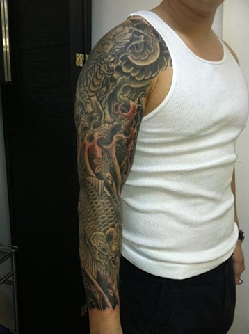 Koi Fish/Tiger Sleeve