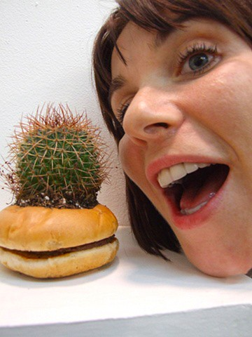 I often use humor as a way to create an unlikely site to discuss tough issues. In this piece, exhibited in a show called Dollar Menu, I made a planter for nature's most durable plant, out of a fast-food burger, to discuss the use of preservatives used in